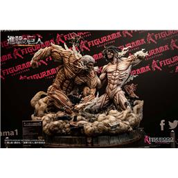 Eren vs Armored Titan Elite Exclusive Statue 61 cm