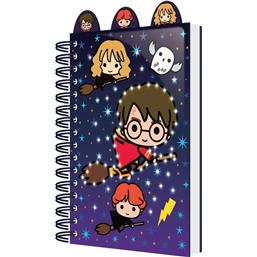 Harry Potter: Chibi Characters A5 Notesbog med Lys