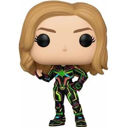 Captain Marvel w/Neon Suit POP! Marvel Vinyl Bobble-Head Figur