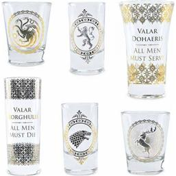 Game Of Thrones: Black & Gold Shotglasses 6-Pack