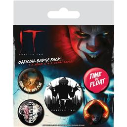 IT: It Chapter Two Pin Badges 5-Pack Clown