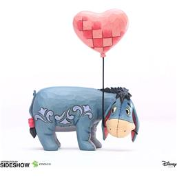 Peter Plys: Eeyore with a Heart Balloon Statue 20 cm