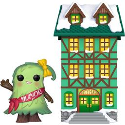 Funko Christmas Village: Mayor Patty Noble w/Town Hall Christmas Village POP! Town Vinyl Figur