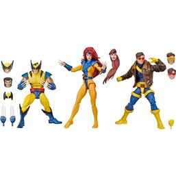 Wolverine & Jean Grey & Cyclops Marvel Legends 80th Anniversary Action Figures 3-Pack 15 cm