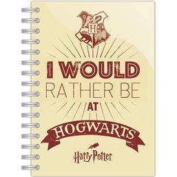 I Would Rather be at Hogwarts A5 Notesbog