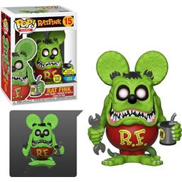 Rat Fink Glow-in-the-dark SDCC Exclusive POP! Icons Vinyl Figur (#15)