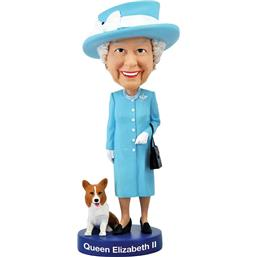 Diverse: Queen Elizabeth II Bobble-Head 20 cm