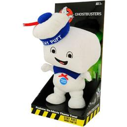 Talende Stay Puft Marshmallow Man Happy Bamse 38 cm *English Version*