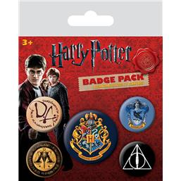 Hogwarts Badges 5-Pack