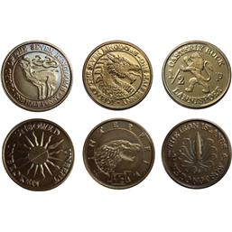 Game Of Thrones: Half-Pennies the 6 Houses Coin Set