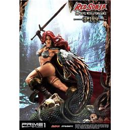 Red Sonja: Red Sonja She-Devil with a Vengeance Deluxe Version Statue 79 cm