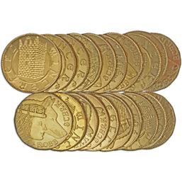 Game Of Thrones: Robb Stark Golden Half-Dragons Coin Set