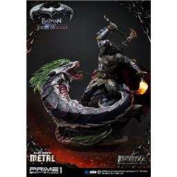Batman Versus Joker Dragon Deluxe Metal Statue 87 cm