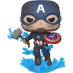Captain America w/Broken Shield & Mjölnir POP! Vinyl Figur (#573)