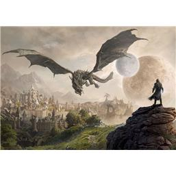 Elder Scrolls: The Elder Scrolls Online Elsweyr Art Print Dragon 42 x 30 cm