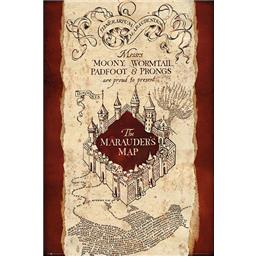 Harry Potter: Plakat med Marauders Map