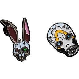 Borderlands: Bunny & Psycho Mask Collectors Pins 2-Pack