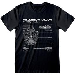 Millenium Falcon Sketch T-Shirt