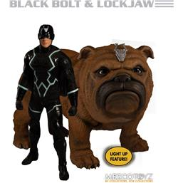 Black Bolt & Light-Up Lockjaw One:12 Action Figures 1/12 17 cm