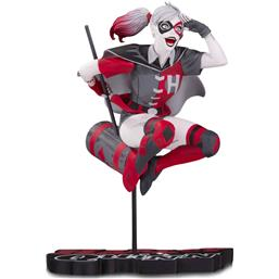 Harley Quinn Red, White & Black Statue by Guillem March 18 cm