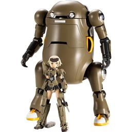 Handscale Girl Gourai with MechatroWeGo Brown Plastic Model Kit 13 cm