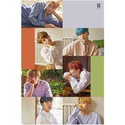 BTS Group Collage Plakat