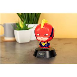 Captain Marvel 3D Icon Lampe