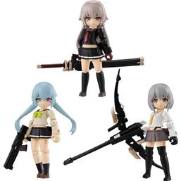 Heavily Armed High School Girls Desktop Army Figures 8 cm 3-Pack