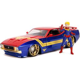 Captain Marvel: Captain Marvel with Ford Mustang Mach 1 Diecast Model 1/24