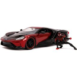 Spider-Man: Miles Morales with Ford GT Diecast Model 1/24