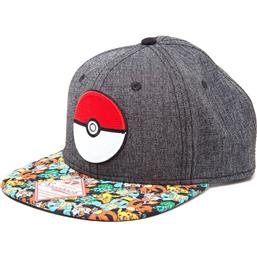 Pokémon: PokeBall Cap Grå