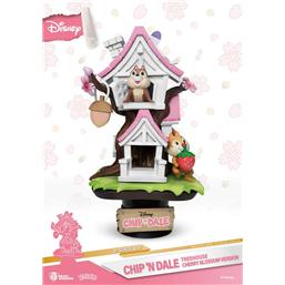 Disney: Chip 'n Dale Tree House Cherry Blossom Ver. D-Stage PVC Diorama 16 cm