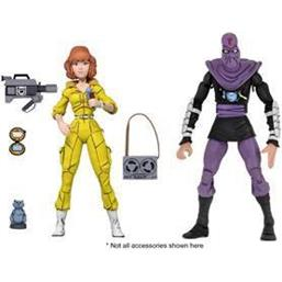 April O'Neil & Foot Soldier Action Figure 2-Pack 18 cm