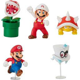 Super Mario Bros.: World of Nintendo Action Figures 6 cm Wave 19 5-Pack