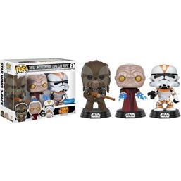 Tarfful & Emperor & Clone Troope POP! Vinyl Figur 3-Pack 2017 Fall Convention Exclusive