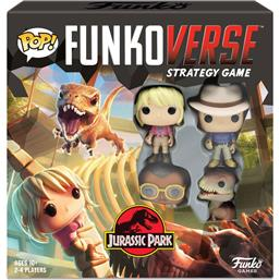Jurassic Park & World: Funkoverse Jurassic Park Board Game 4 Character Base Set