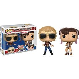 Captain Marvel vs Chun-Li POP! Games Vinyl Figursæt 2-Pak