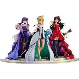 Saber, Rin Tohsaka and Sakura Matou 15th Celebration Dress Ver. PVC Statues 1/7