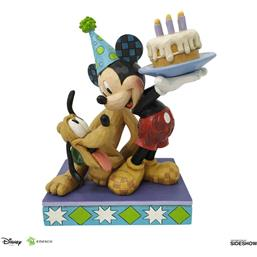 Pluto & Mickey Birthday Statue 16 cm