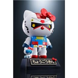 Hello Kitty Gundam Color Ver. Diecast Action Figure 11 cm