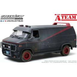 A-Team: GMC Vandura Weathered Version with Bullet Holes 1983 Diecast Model 1/18