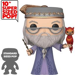 Albus Dumbledore med Fawkes Super Sized POP! Movies Vinyl Figur 25 cm (#110)