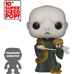 Lord Voldemort w/Nagini Super Sized POP! Movies Vinyl Figur 25 cm (#109)