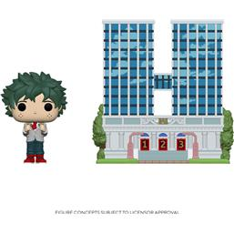 U.A. High School w/Deku in Uniform POP! Town Vinyl Figur