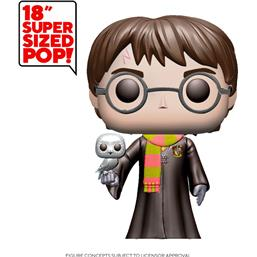Harry Potter w/Hedwig Super Sized POP! Movies Vinyl Figur 48 cm
