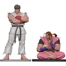 Street Fighter: Ryu & Dan Statues 1/8