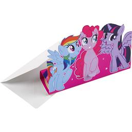 Cupcake Pony invitationer 8 styk