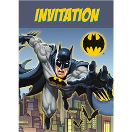 Batman invitationer 8 styk