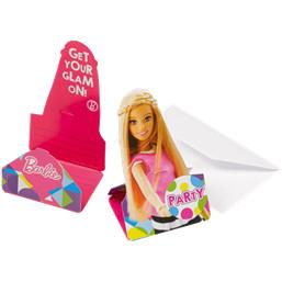 Barbie invitationer 8 styk