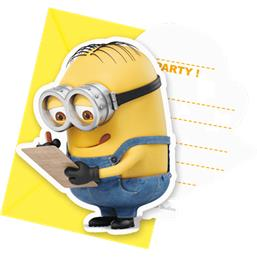 Minions invitationer 6 styk